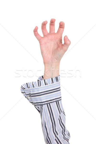 Közelkép kar kéz készít karom izolált Stock fotó © dgilder
