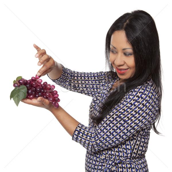 Casual Latina - grapes produce selection Stock photo © dgilder
