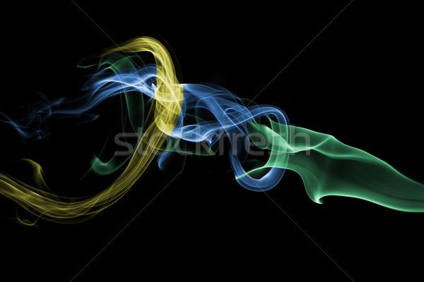 Abstract smoke - green blue yellow Stock photo © dgilder