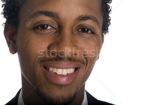Empresário isolado estúdio rosto sorridente Foto stock © dgilder