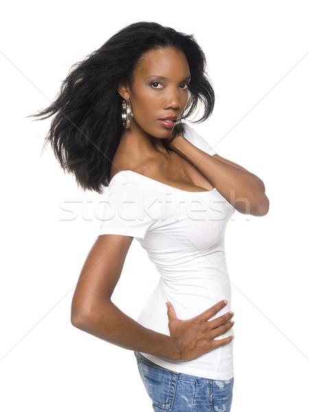 Women - Windblown Fashion Stock photo © dgilder