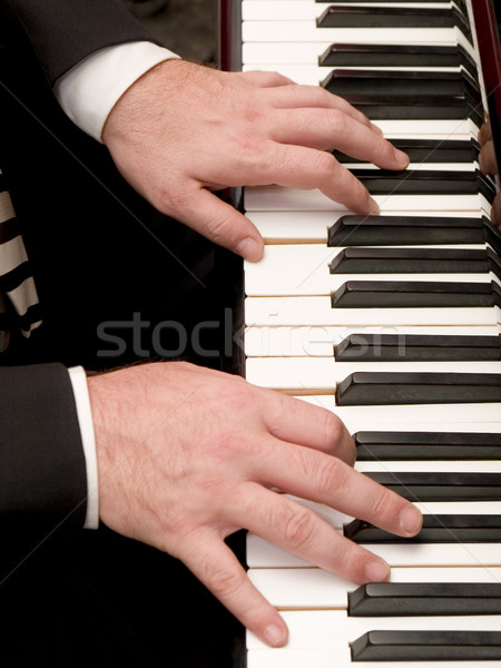 Piano joueur stock photo mains Photo stock © dgilder