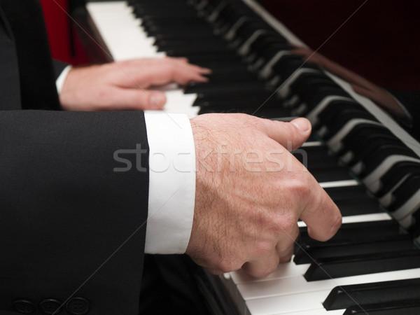 Stock photo: piano player