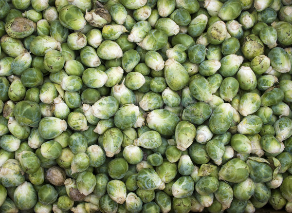 produce - organic brussels sprouts background Stock photo © dgilder
