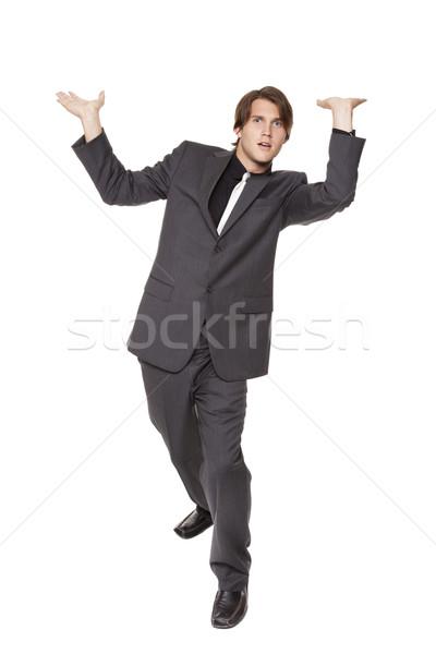 businessman - overhead burden Stock photo © dgilder