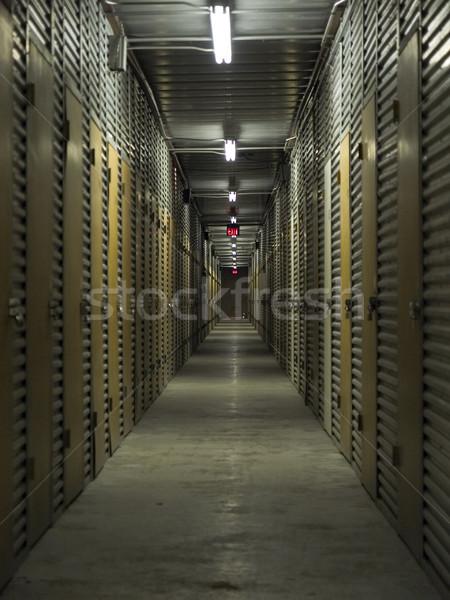 Stockage unité couloir Photo stock © dgilder