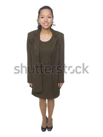 деловая женщина мнение изолированный Сток-фото © dgilder