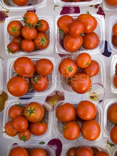 Produrre pomodori display mercato Foto d'archivio © dgilder