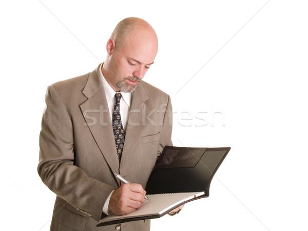 Foto stock: Empresario · stock · foto · cuaderno