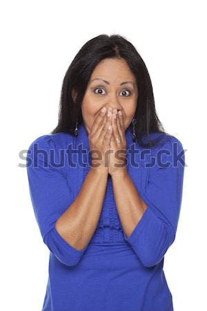 Casual Latina - Speak No Evil Pose Stock photo © dgilder