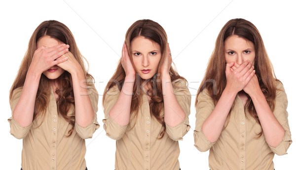 Stock photo: businesswoman - No Evil