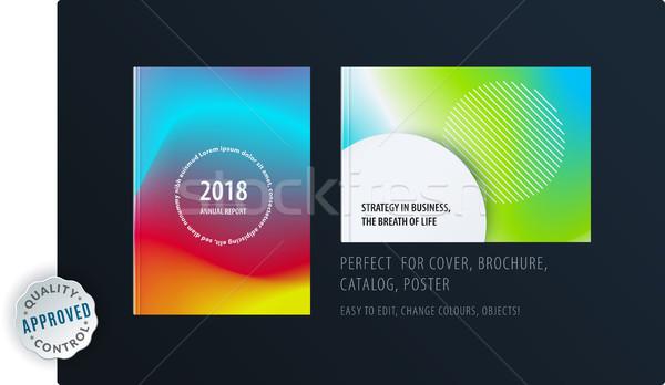 抽象的な カラフル グラフィックデザイン パンフレット 流体 液体 ストックフォト © Diamond-Graphics