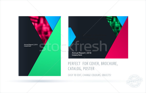 Abstract brochure materiale design stile colorato Foto d'archivio © Diamond-Graphics