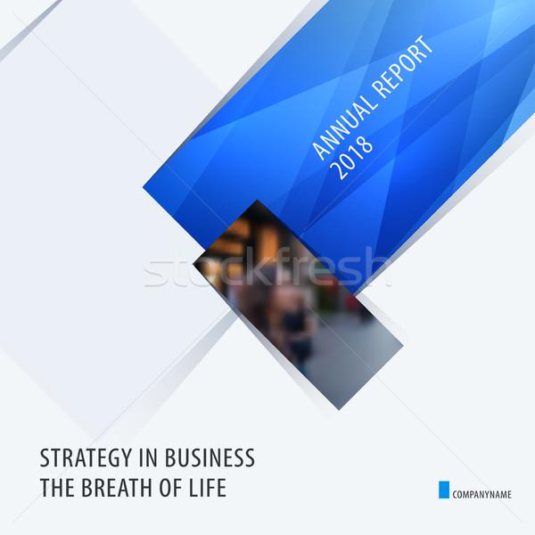 Absztrakt terv kék színes vektor elemek Stock fotó © Diamond-Graphics