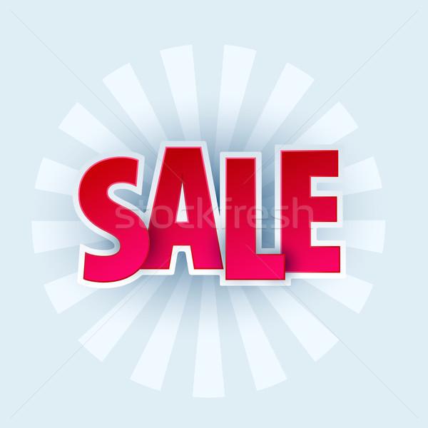 Vásár szalag sablon terv akció piros Stock fotó © Diamond-Graphics