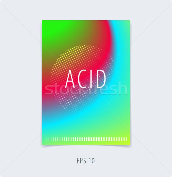 Soyut renkli grafik tasarım broşür sıvı sıvı Stok fotoğraf © Diamond-Graphics