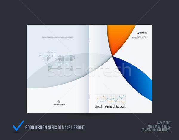 Abstract kleurrijk brochure materiaal ontwerp stijl Stockfoto © Diamond-Graphics