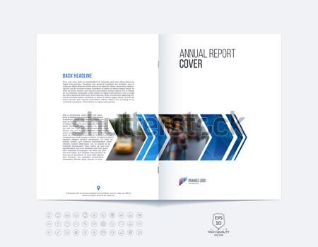 Résumé brochure design style coloré Photo stock © Diamond-Graphics