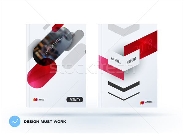 Business set of design brochure, abstract annual report, horizontal cover flyer Stock photo © Diamond-Graphics