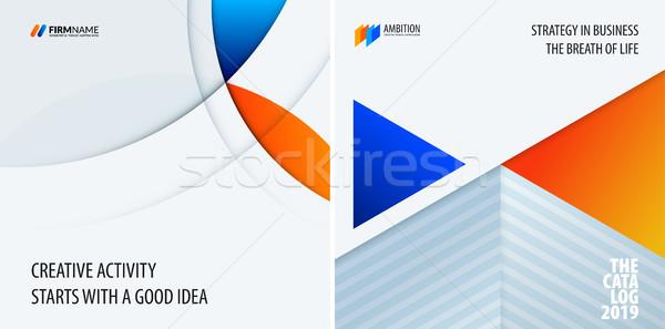 Szett modern terv absztrakt sablonok színes Stock fotó © Diamond-Graphics