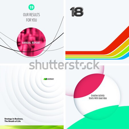 Business design of abstract vector elements for graphic template. Modern background. Stock photo © Diamond-Graphics
