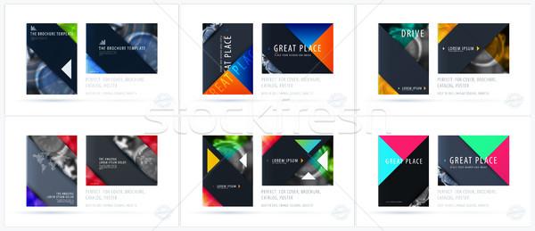 Brochure design modello colorato moderno abstract Foto d'archivio © Diamond-Graphics