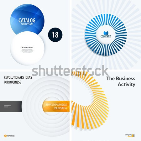 Set of yellow grey abstract vector design for graphic template. Creative modern business background. Stock photo © Diamond-Graphics