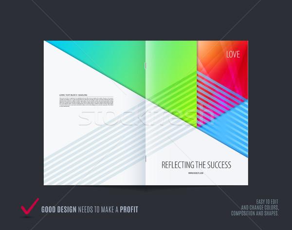 Streszczenie kolorowy broszura materiału projektu papieru Zdjęcia stock © Diamond-Graphics