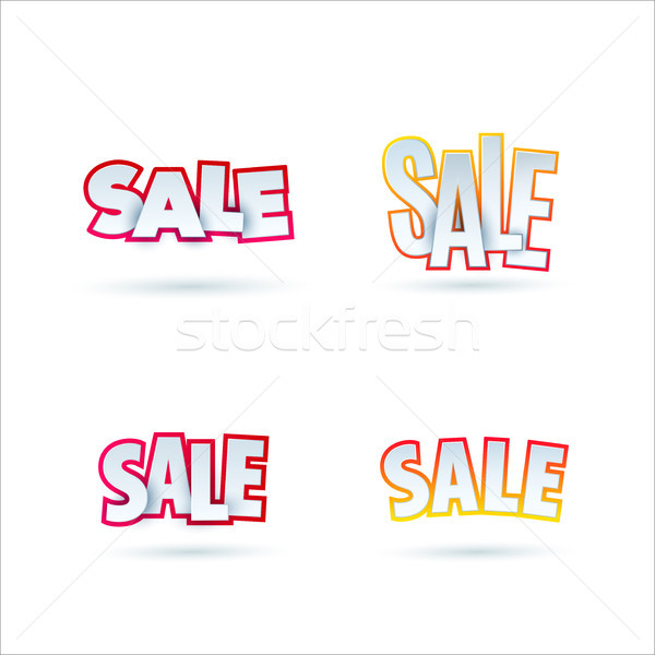 Ingesteld verkoop banner sjabloon ontwerp Stockfoto © Diamond-Graphics