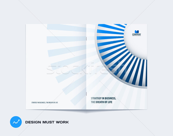 Abstract brochure ontwerp moderne catalogus dekken Stockfoto © Diamond-Graphics