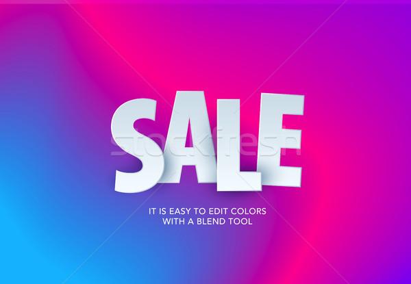 продажи баннер шаблон дизайна специальное предложение Сток-фото © Diamond-Graphics