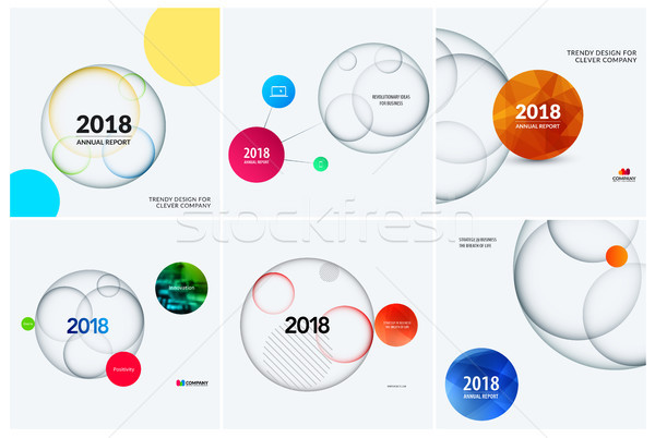 Abstract set design of colourful vector elements for modern background with circles shadows for busi Stock photo © Diamond-Graphics