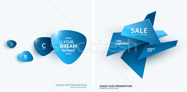Set of abstract vector design for graphic template. Stock photo © Diamond-Graphics