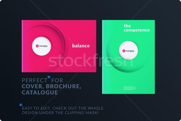 Szablon twórczej streszczenie minimalny projektu broszura Zdjęcia stock © Diamond-Graphics