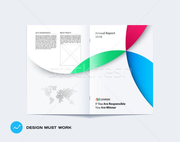 Abstract colorato brochure materiale design stile Foto d'archivio © Diamond-Graphics