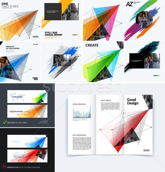 как набор дизайна сайт баннер Сток-фото © Diamond-Graphics