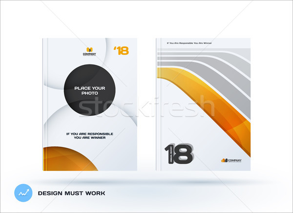 Creativo design business brochure set abstract Foto d'archivio © Diamond-Graphics
