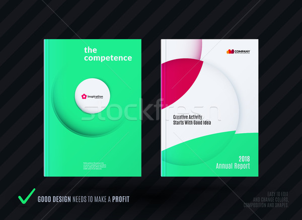 Creatieve ontwerp business brochure ingesteld abstract Stockfoto © Diamond-Graphics