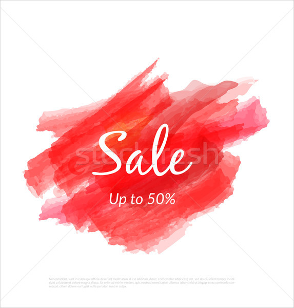 Sale artistic banner template design on red sketch background. Special offer, colourful letters for  Stock photo © Diamond-Graphics