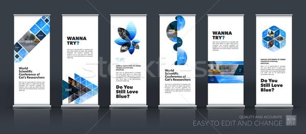 Wektora zestaw nowoczesne toczyć w górę banner Zdjęcia stock © Diamond-Graphics
