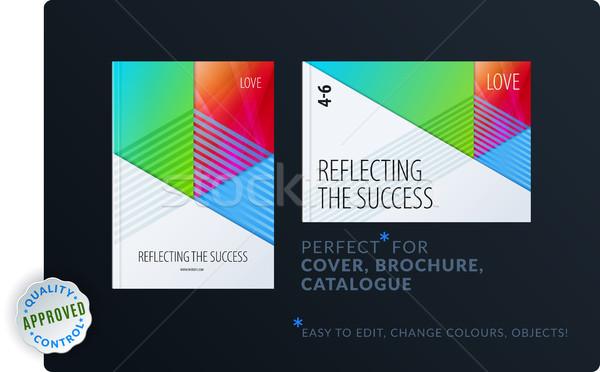 Materiału szablon twórczej kolorowy streszczenie broszura Zdjęcia stock © Diamond-Graphics