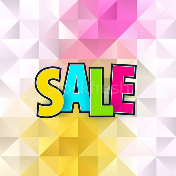 Sale abstract banner template design on soft polygonal elegant background. Special offer, colourful  Stock photo © Diamond-Graphics