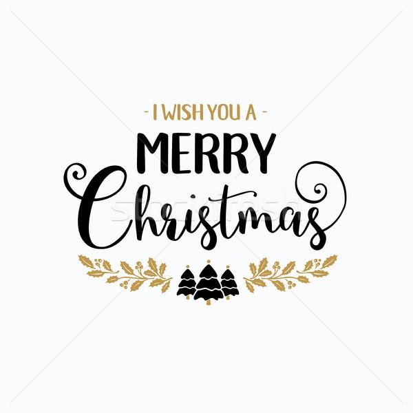 Alegre Navidad tipografía escritura texto diseno Foto stock © Diamond-Graphics