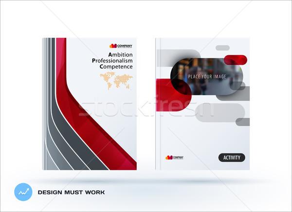 Yaratıcı dizayn iş broşür ayarlamak soyut Stok fotoğraf © Diamond-Graphics