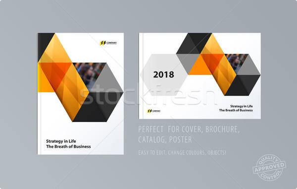 Brochure design modèle coloré modernes résumé Photo stock © Diamond-Graphics