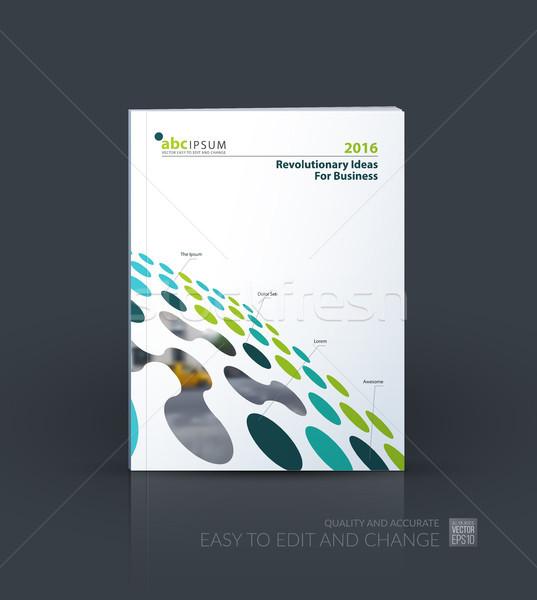 Brochure template layout, cover design annual report, magazine,  Stock photo © Diamond-Graphics