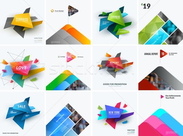 Abstract vector ontwerp communie grafische sjabloon Stockfoto © Diamond-Graphics