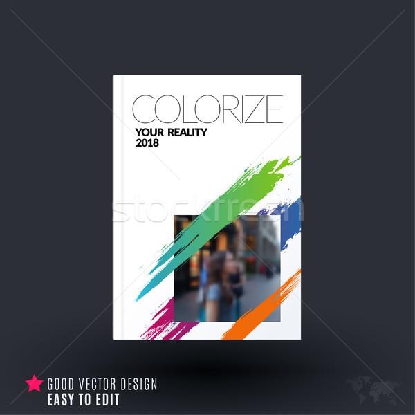 Abstract design business vettore brochure modello Foto d'archivio © Diamond-Graphics