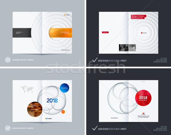 Ontwerp ingesteld abstract brochure kleurrijk cirkels Stockfoto © Diamond-Graphics