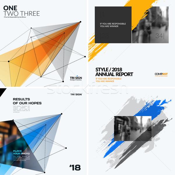 Mega set of templates, polygonal design for website, banner, stand, corporate identity Stock photo © Diamond-Graphics